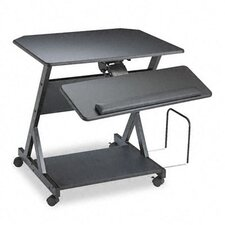 Z-25 Ergonomic Workcenter, 30w x 24d x 30-3/4h, Black Laminate Top
