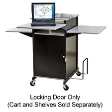 "Locking Door, f/ Presentation Cart, 18""x1/2""x39"", Black"
