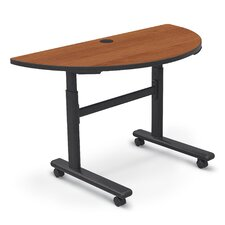 Adjustable Height Flipper 1/2 Round Training Table