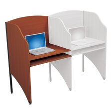 Floor Carrel Cherry Laminate Study Carrel Desk Add-On