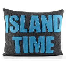 "Weekend Getaway ""Island Time"" Decorative Pillow"