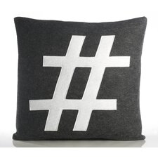 "Modern Lexicon ""#"" Decorative Pillow"