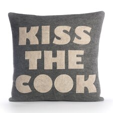 "Good Advice ""Kiss The Cook"" Decorative Pillow"