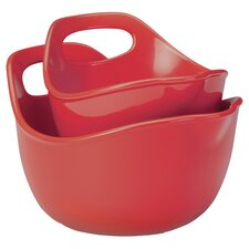 Rachael Ray 2 Piece Mixing Bowl Set in Red
