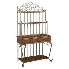 St. Ives Storage Baker's Rack in Cinnamon Cherry