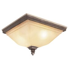 Tea Branch 3 Light Flush Mount in Bronze
