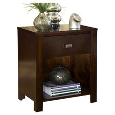 Riva 1 Drawer Nightstand in Chocolate