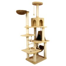 "78"" Ultra Soft Premium Cat Tree in Beige"