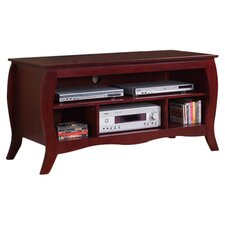 "Curved 48"" TV Stand in Cherry"