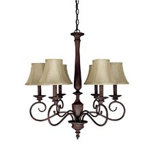Hammond 6 Light Chandelier in Brass