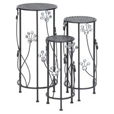 3 Piece Nesting Plant Stand Set in Gray