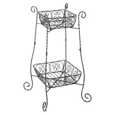 Fanciful Tiered Plant Stand in Black