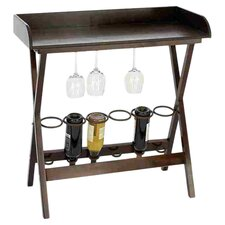 6 Bottle Wine Rack in Brown