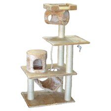 "62"" Cat Tree in Beige II"