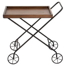Hvar Tea Serving Cart in Brown