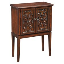 Scroll Designed Cabinet in Warm Brown