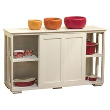 Pacific Kitchen Island Cabinet in White