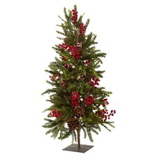 3' Nearly Natural Pine & Berry Artificial Tree