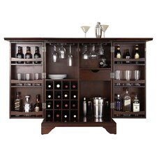 LaFayette Expandable Bar Cabinet in Mahogany