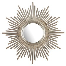 Reyes Mirror in Antique Silver