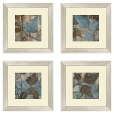 4 Piece Botanical Perfect Match Framed Art Set