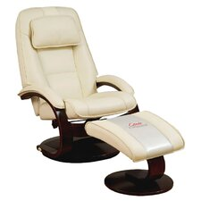 Swivel Recliner & Ottoman in Cream