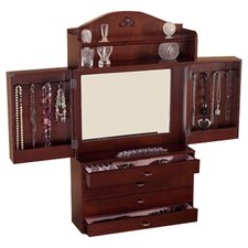 Kent Wall Mount Jewelry Armoire in Cherry