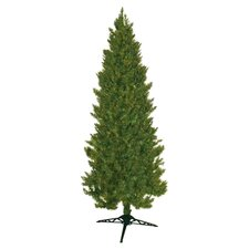 7' Green Slim Spruce Christmas Tree