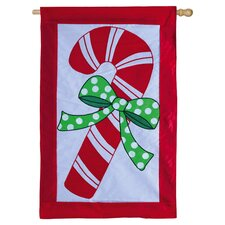 Candy Cane Christmas Applique Flag
