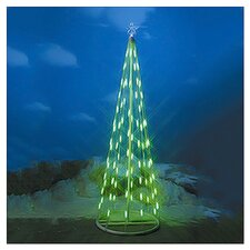 4' Green String Light Christmas Cone Tree