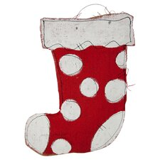 Stocking Burlee in Red & White