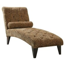 Velvet Chaise Lounge in Leopard