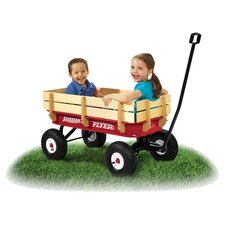 All-Terrain Steel & Wood Wagon in Red