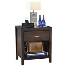 Urban Loft 1 Drawer Nightstand in Brown