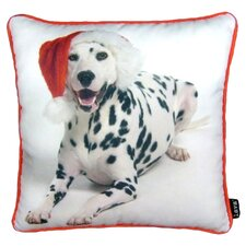 Holiday Dalmation Pillow in White