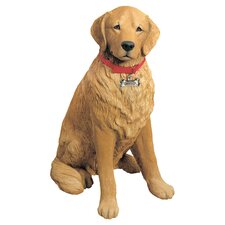 Life Size Golden Retriever Sculpture in Tan