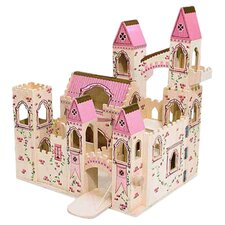 Folding Princess Castle in Pink