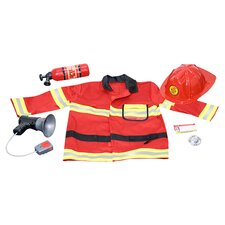 Fire Chief Role Play Costume Set in Red