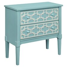 Epworth 2 Drawer Chest in Pastel Blue