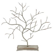 Tree Branches Decor On Stand in Rustic White