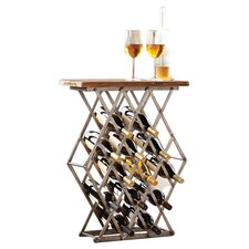 12 Bottle Tabletop Wine Rack in Brown