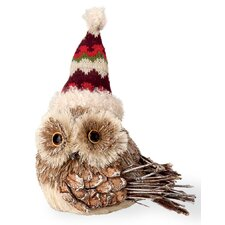 Owl with Zig Zag Hat Holiday Accent
