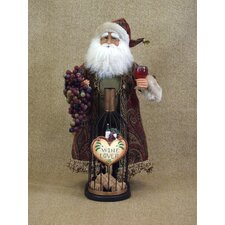 Crakewood Wine Bottle Cork Collector Santa Claus Figurine
