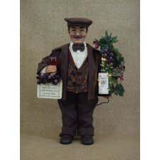 Classic Home Lighted Wine Sommelier Figurine