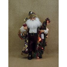 Crakewood Lighted Grape Vine Santa Claus Figurine