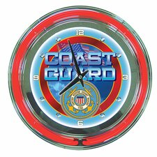 United States Coast Guard Neon Clock