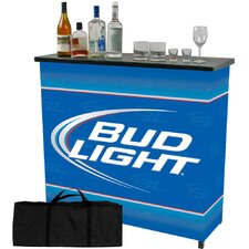Bud Light Shelf Portable Bar Table with Carrying Case