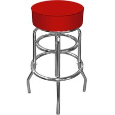 High Grade Padded Bar Stool in Red