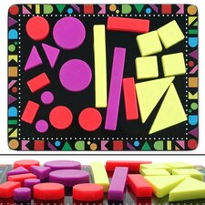 Colorful Geometric Shaped Magnets 22 Piece Set
