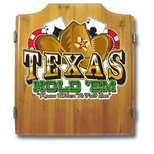 Texas Hold'em Dart Cabinet in Medium Wood